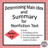 Determine Main Idea and Summary - Nonfiction