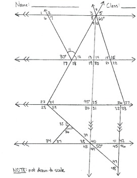 Find the missing angle of a triangle worksheet pdf