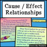 Causes and Effect Reading Passages Lesson Plan for PROMETHEAN Board Use