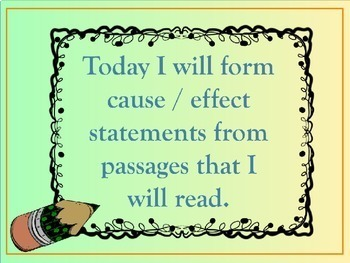 Causes and Effects Reading Passages Lesson Plan in Power Point