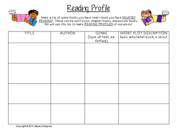 Determine Reader Interest Profile, Worksheet: Library Skills