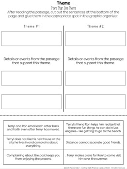 Determine Theme - Reading Passages, Activities - Distance Learning Packet