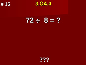 Determine Unknown Whole Number Problems 3.OA.4 Fill In Blank Assessment