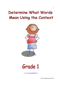 Determine What Words Mean Using the Context: Introduce/Practice/Assess