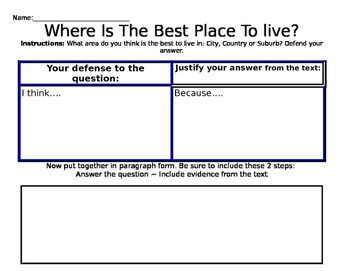 Determine Your Defense Worksheet