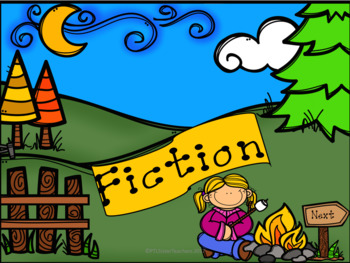 Determine the Genre: Fiction or Nonfiction (Camping Theme)