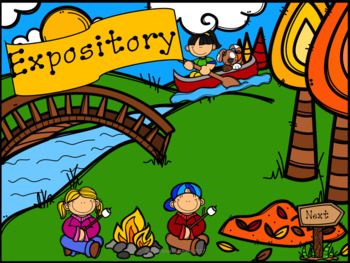 Determine the Genre: Narrative or Expository (Camping Theme)