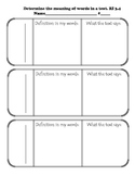 Organizers for Informational Text-Determine the Meaning of Words & Phrases RI3.4
