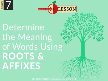 Determine the Meaning of Words Using Roots and Affixes