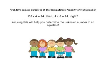 Determine the Unknown Whole Number in an Equation (Mini-Lesson and Quiz)