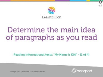 Determine the main idea of paragraphs as you read