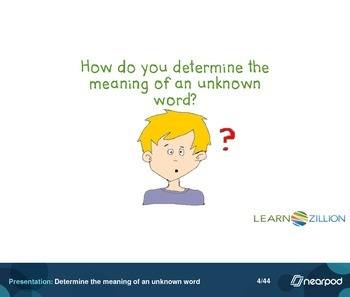 Determine the meaning of an unknown word