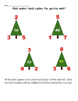 Determine the missing number Christmas Tree