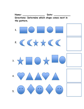 Determine the next shape in a pattern