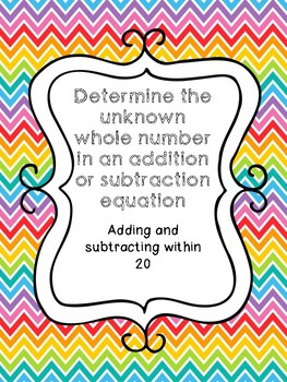 Determine the unknown whole number in an addition or subtraction equation