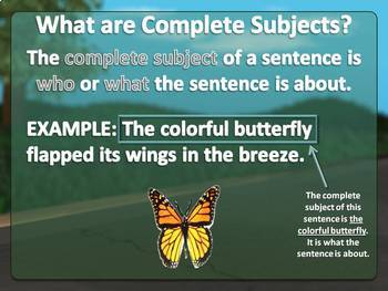 Complete Subjects and Predicates PowerPoint Lesson