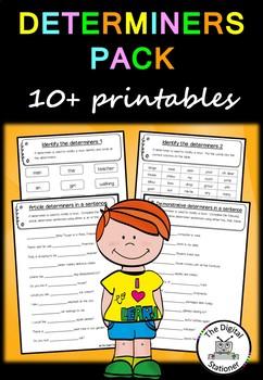 Determiner Pack (Parts of Speech) – 10+ worksheets/printables