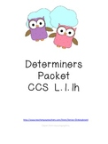 Determiners Pack for First Grade