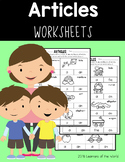 Determiners (articles) Worksheets L.1.1.H