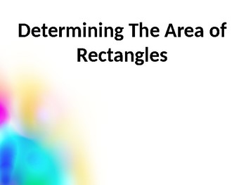 Determining Area PowerPoint