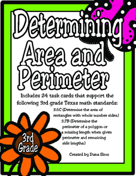 Determining Area and Perimeter: 3rd Grade TEKS 3.6C and 3.7B