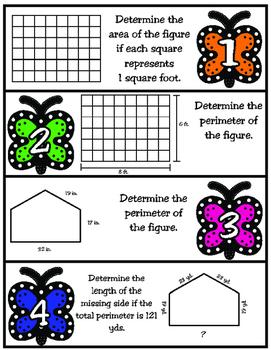 Determining Area and Perimeter: 3rd Grade TEKS 3.6C and 3.7B STAAR Practice