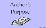 Determining Author's Purpose using Activotes