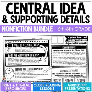 Central Idea Teaching Resources Teachers Pay Teachers
