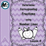 Determining Corresponding Fractions using Number Lines