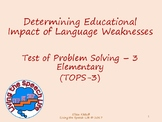 Determining Educational Impact of Test of Problem Solving-