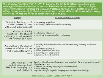 Determining Educational Impact of the Language Procesing Test-3