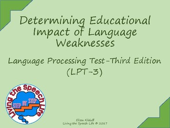 Determining Educational Impact of the Language Procesing Test-3