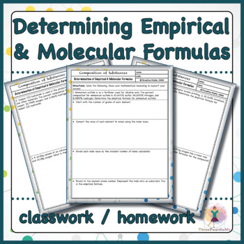 Determining Empirical & Molecular Formulas Classwork / Homework