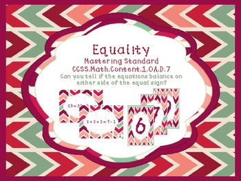 Determining Equality: Balance Equations! {Math} {Common Core 1.OA.D.7}