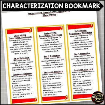 Determining Importance - Comprehension Strategy Bookmark