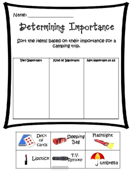 Determining Importance Cut and Paste