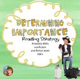 Determining Importance Reading Comprehension Strategy PPt +PDFs + Interactives