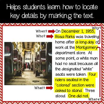 Determining Main Idea & Key Details in an Informational Text