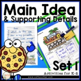 Comprehension Strategy Main Idea and Supporting Details Set 1