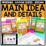 Main Idea and Details for Informational Text - Digital Distance Learning
