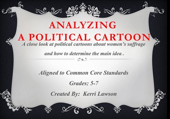 Determining Main Idea of a Political Cartoon