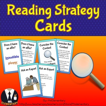 Reading Strategy Trading Cards