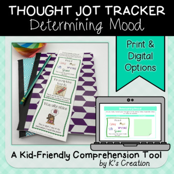 Reading Response: Determining Mood - A Comprehension Sticky Note Tracker