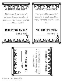 Determining Operation-Multiplication or Division Task Cards-3rd grade