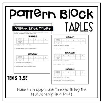 Determining Patterns in Tables Using Pattern Block