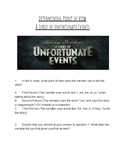 Determining Point of View with A Series of Unfortunate Events