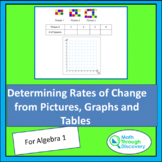 Algebra 1 - Determining Rates of Change from Pictures, Graphs and Tables