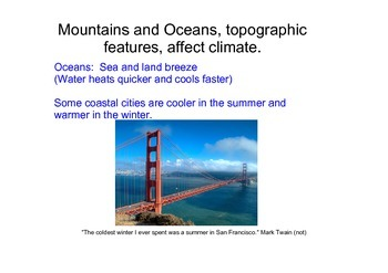 Determining Regional Climate NGSS: Weather and Climate MS-ESS2-6 (Editable)