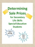 Determining Sale Prices for Secondary Life Skills Special