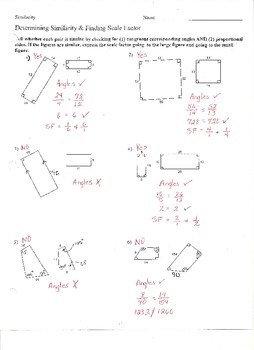 Determining Similarity and Scale Factor